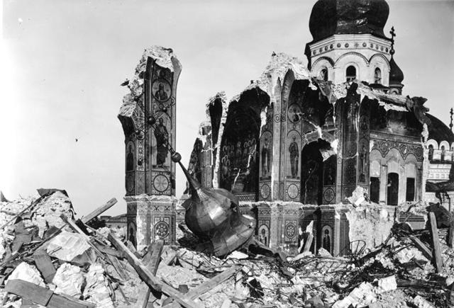 Kiew, Lavra-Kloster, Ruine Uspenski-Kathedrale